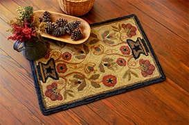1Potted Flower Pattern Hooked Rugs