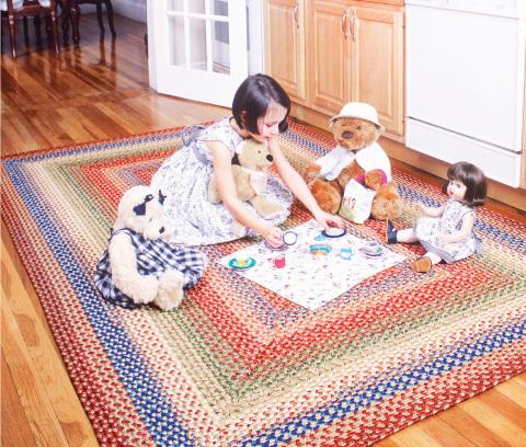 kids friendly braided rug