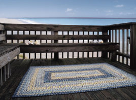 Aegean Sea Outdoor Braided Rugs