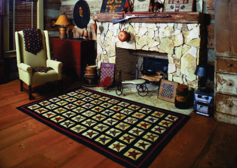 Star Patch penny rug