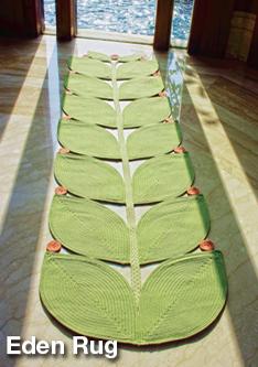 eden braided rug used in entryway