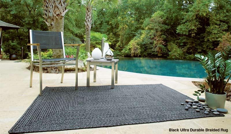 black ultra durable rug