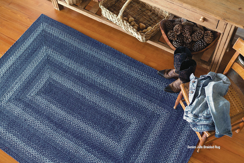 DENIM JUTE BRAIDED RUGS