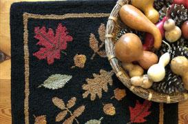 Falling Leaves Ultra Wool Tufted Rug