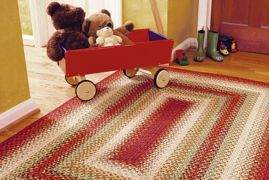 Santa Fe Sunrise Multi Color Cotton Braided Rugs