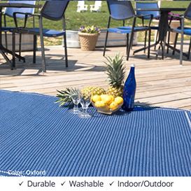 Oxford Horizon Denim Blue Ultra Durable Braided Rugs