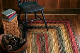 Budapest Multi Color Wool Braid Rugs