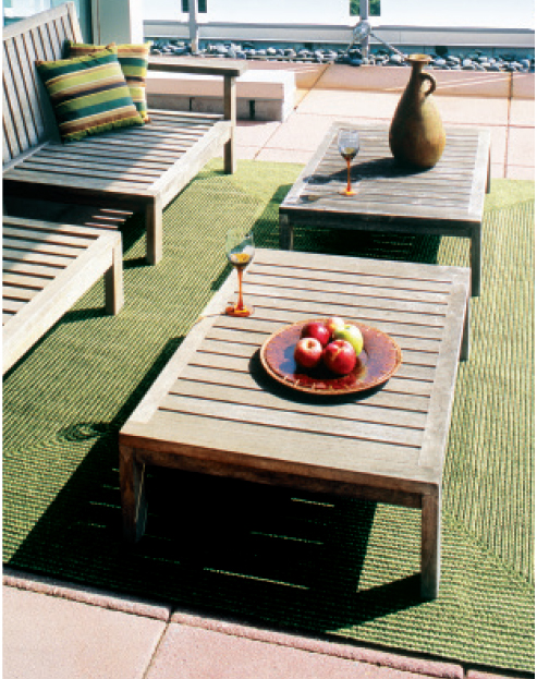 pine outdoor braided rug