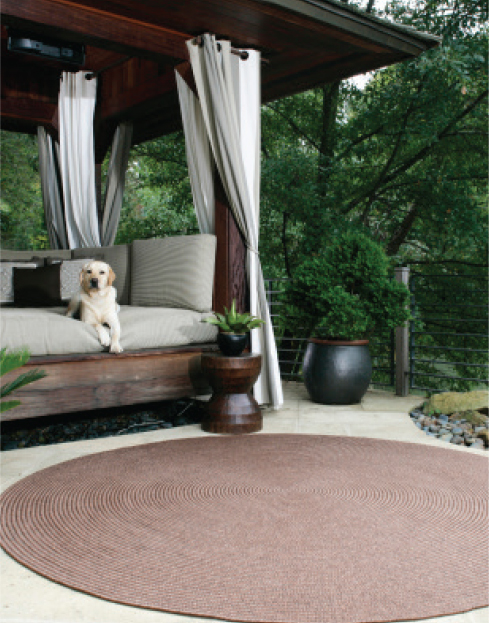 espresso outdoor braided rug