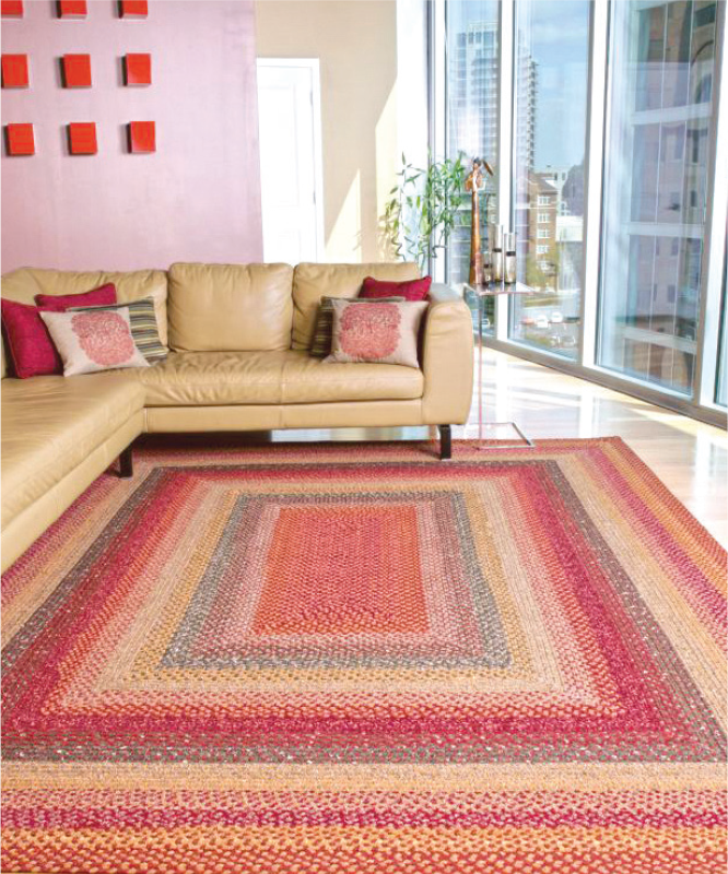 transitional braided rug