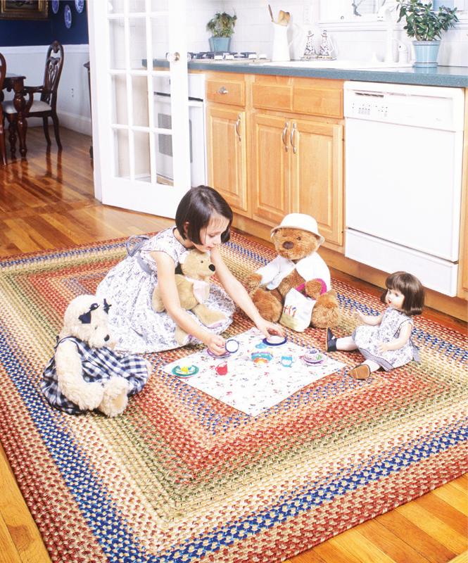 kid friendly braided rug