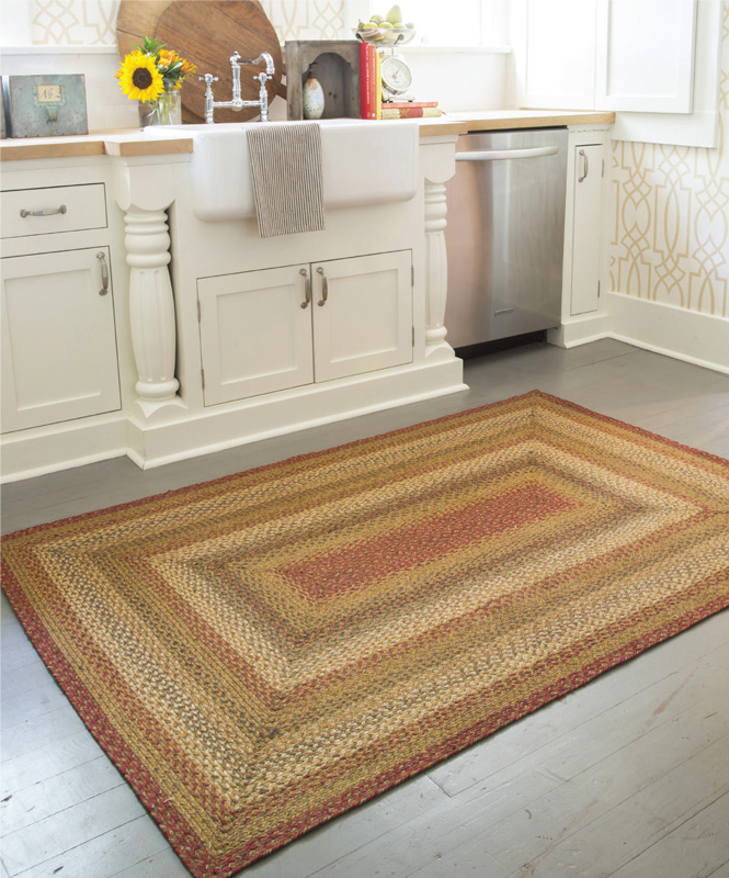 kitchen braided rug