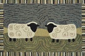 2 x 3' Hooked Sheep Rug
