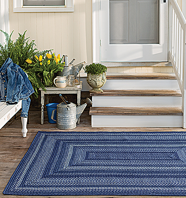 Indigo Ultra Wool Braided Rugs
