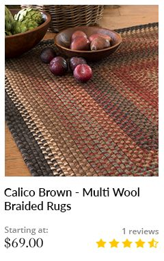 CALICO BROWN - MULTI WOOL BRAIDED RUGS