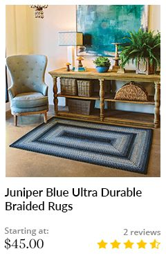 JUNIPER BLUE OVAL ULTRA DURABLE BRAIDED RUGS