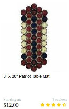 Patriot Table Mat