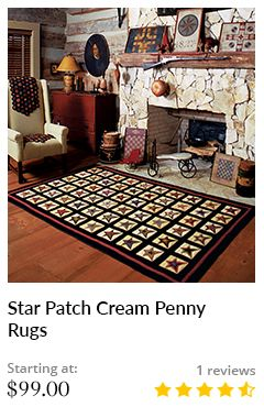 STAR PATCH CREAM PENNY RUGS