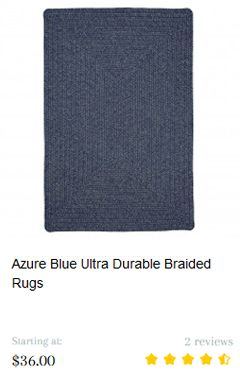 Azure Blue Ultra Durable Braided Rugs
