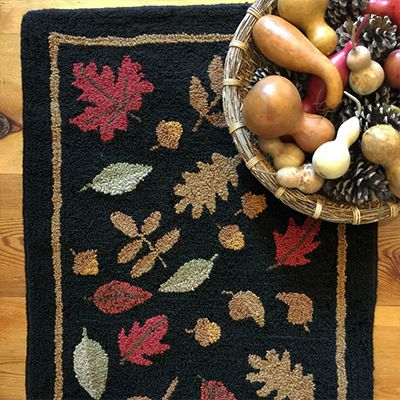 FALLING LEAVES ULTRA WOOL TUFTED RUG