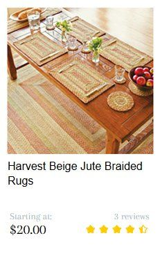Harvest Jute Braided Rug