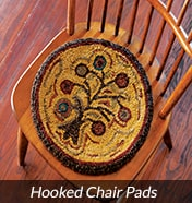 Hooked Primitive Chair Pads