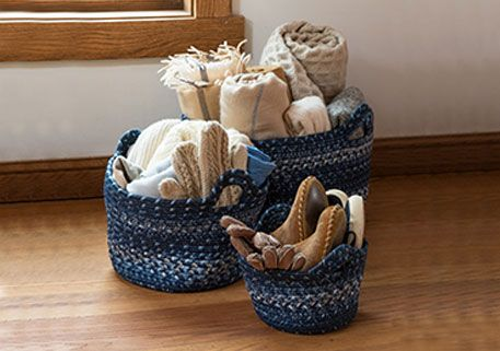 navy blue baskets