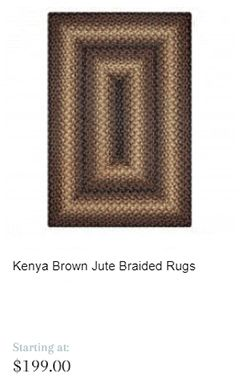Keny Brown Jute Braided Rugs