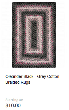 Olenar Black - Grey Cotton Braided Rugs